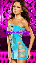 Blue hollow out flirty tube chemise