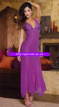 Backless purple gown