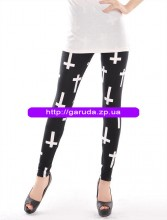 Combed cotton leggings