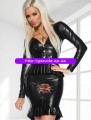 Salem Witch Wet Look Ladies Halloween Costume