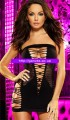 Black hollow out flirty tube chemise